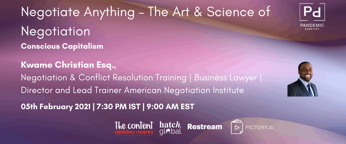Negotiate Anything – The Art & Science of Negotiation